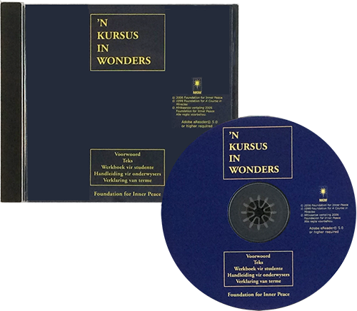 'N KURSUS IN WONDERS - Afrikaans - Electronic Book version of A Course in Miracles - open jewel case and disc
