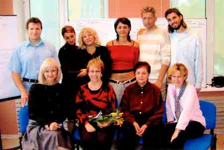Kira with Russian ACIM students