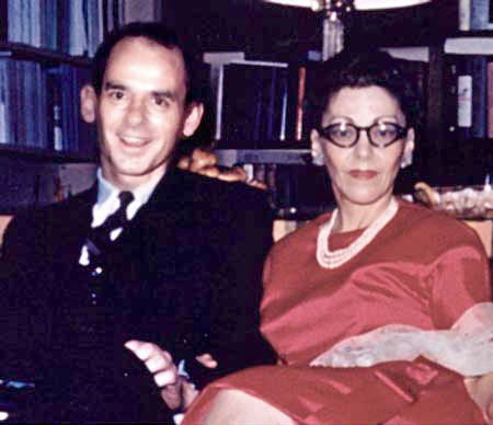 photo - group: Dr. William Thetford and Dr. Helen Schucman - 1960