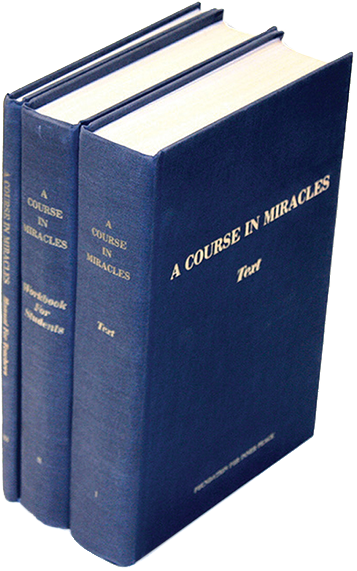 photo -book cover: The First Edition of A Course in Miracles was published in 3 hard cover volumes.