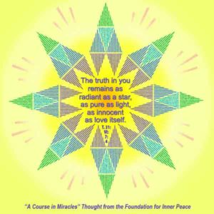 """graphic (ACIM Weekly Thought): """"The truth in you remains as radiant as a star, as pure as light, as innocent as love itself."""" T-31.VI.7:4"""