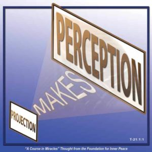 """graphic (ACIM Weekly Thought): """"Projection makes perception."""" T-21.In.1:1"""