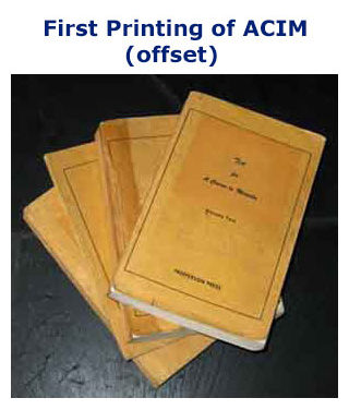 slideshow slide: 5-Evolution-ACIM-SlideShow: First Printing of ACIM (offset)