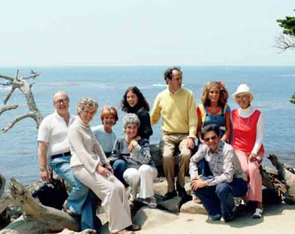 photo - group: Dr. William Thetford and Group on 17 Mile Drive on CA coast.