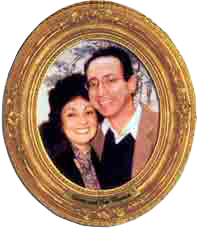 photo - group: Gloria and Ken Wapnick, oval frame