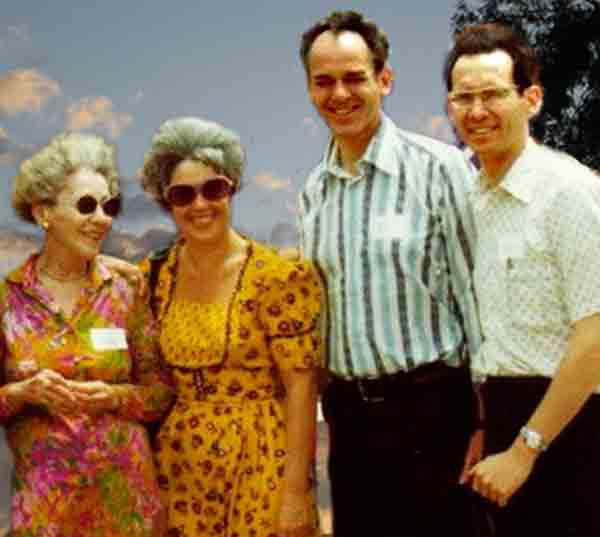 "photo - group: First group: Dr. Helen Schucman, Judith ""Judy"" Skutch Whitson, Dr. William Thetford, Dr. Kenneth Wapnick"