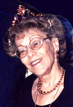 Helen Schucman wearing tiara crown