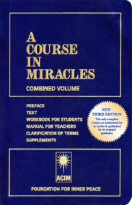 graphic: A Course In Miracles (ACIM) English book cover thumbnail