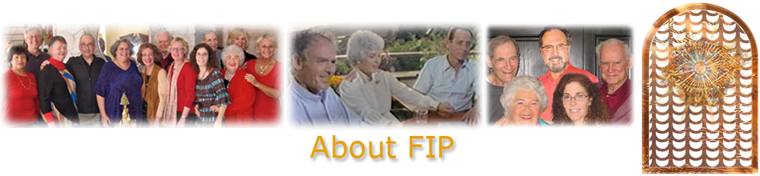 ACIM.org: Home page slider graphic slide: About FIP: ACIM.org (photos of William Thetford, Helen Schucman, Kenneth Wapnick, and FIP group photo, December 2015, California & new board: Bob Skutch, Bob Rosenthal, Whit Whitson, Judy Skutch Whitson, Tam Morgan )