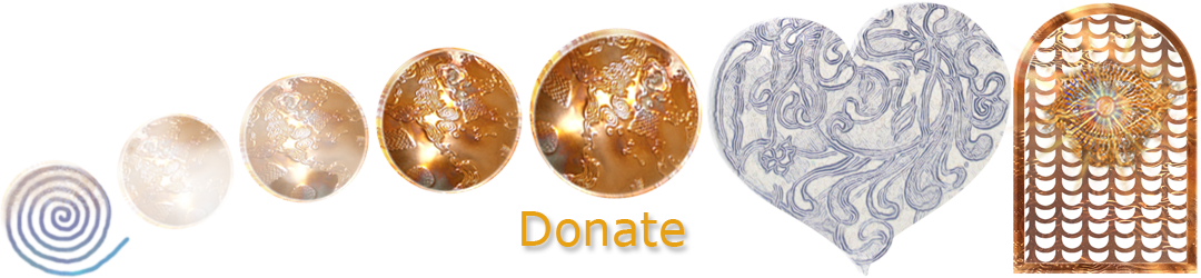 ACIM.org: Home page slider graphic slide: Donate (spiral to coins to heart graphic)