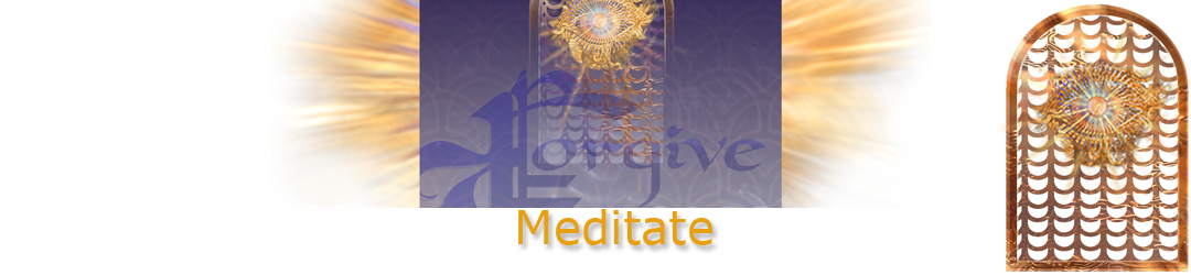 ACIM.org: Home page slider graphic slide: Meditate (Forgiveness)
