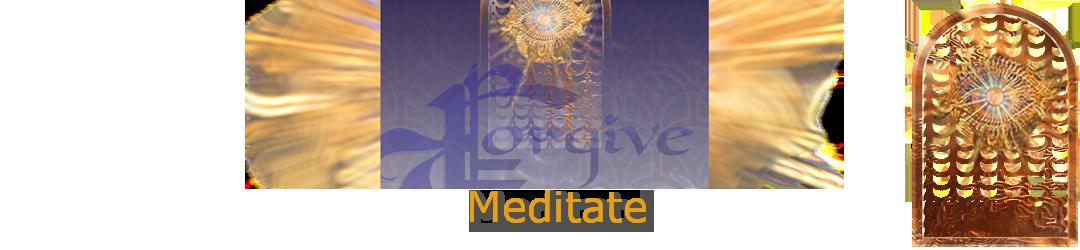 ACIM.org: Home page slider graphic slide: Meditate (Forgiveness)
