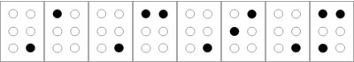 ACIM in Braille characters