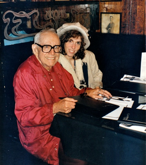 photo: Louis Schucman and Tamara Morgan, seated - 1990