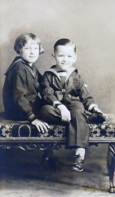 "photo - vintage: William ""Bill"" Thetford and his sister, Pat - 1926"