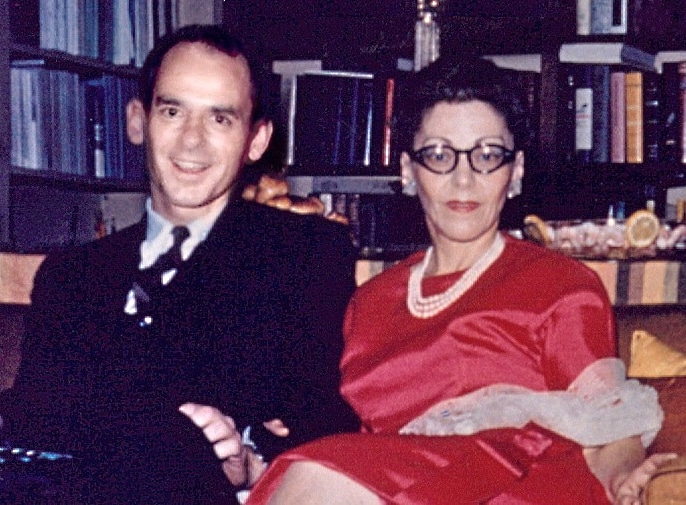 "photo - group: Dr. William ""Bill"" Thetford and Dr. Helen Schucman-1960"