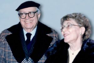 group photo: Louis Schucman and Helen Schucman