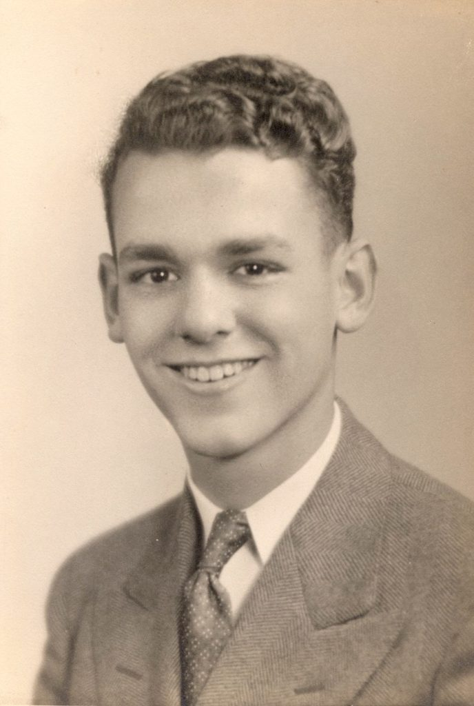 photo - vintage headshot: Bill Thetford, age 14