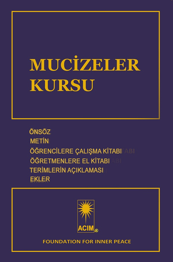 photo - e-book: Mucizeler-Kursu - Turkish ACIM