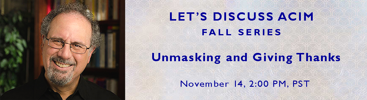 Unmasking and Giving Thanks graphic with headshot - Fall Series