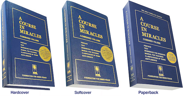 hard, soft and paperback books of A Course in Miracles