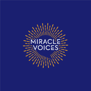 Miracle Voices sun star podcast logo blue background